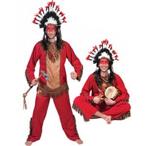 Indiaan Rode Hiawatha - Indianen verkleedkleding kostuum man