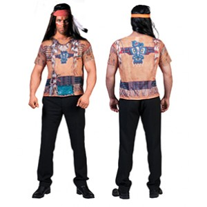 Indiaan 3D t-shirt - Indianen verkleedkleding - Kostuum man