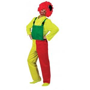 Neon RoodGroene Overall - Verkleedkleding - Kostuum Unisex