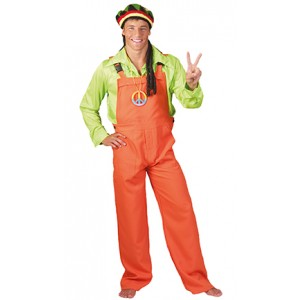 Neon Oranje Overall - Show Verkleedkleding - Kostuum Unisex
