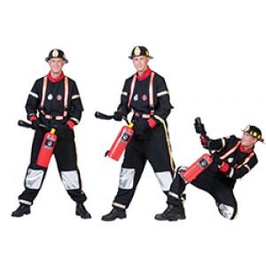 Brandweerheld - brandweerman kostuum man
