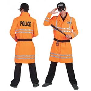 Biker cop - politie kostuum man