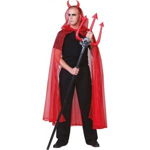 Rode Doorkijk Cape - Verkleedkleding Halloween - Kostuum