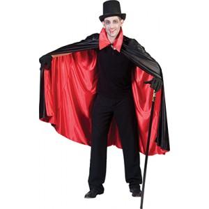 Omkeerbare Cape Nylon Rood/Zwart  Halloween- Kostuum Unisex