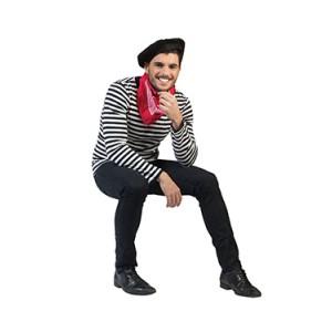 Gestreept shirt - Franse Verkleedkleding - Kostuum Man