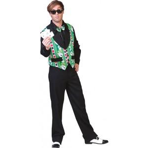 Pokervestje met strik - Poker verkleedkleding