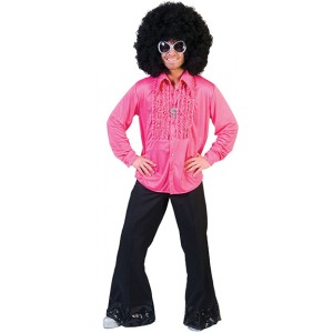 Saturday Night Shirt Roze - Disco verkleedkleding