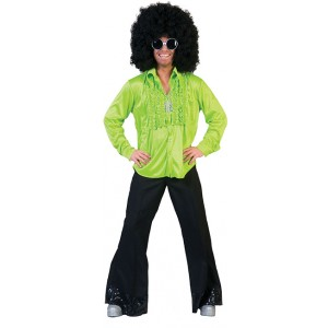 Saturday Night Shirt Groen - Disco verkleedkleding