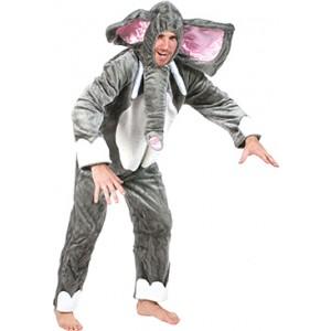 Grijze Olifant - Carnaval Verkleedkleding - Kostuum Man