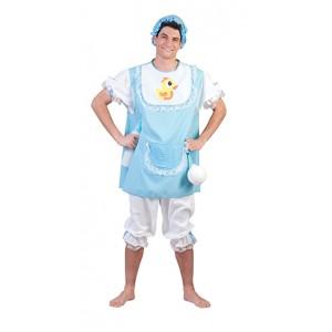 Blauwe Baby - Bachelor Carnaval Verkleedkleding Kostuum Man