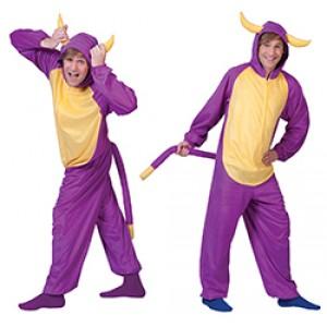 Paarse Koe - Carnaval Verkleedkleding - Kostuum Man