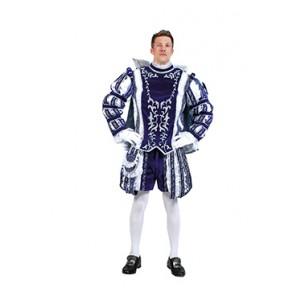 Blauwe Prins Carnaval - Luxe Verkleedkleding  Kostuum Man