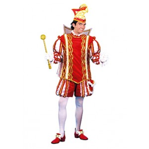 Rode Prins Carnaval Jan - Luxe Verkleedkleding  Kostuum Man