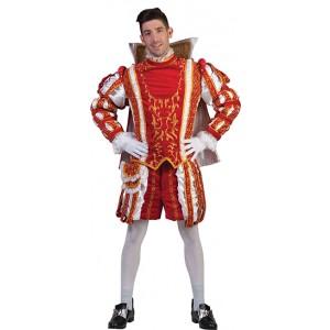 Rode Prins Carnaval Hugo - Luxe Verkleedkleding  Kostuum Man