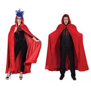 Rode Cape met muts - Gala Verkleedkleding - Kostuum Unisex