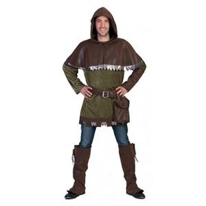 Bos Jager - Middeleeuwen Verkleedkleding - Kostuum Man