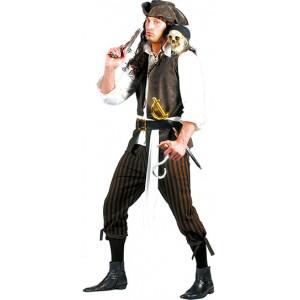 Piraat Bruinbaard - Piraten verkleedkleding - Kostuum man