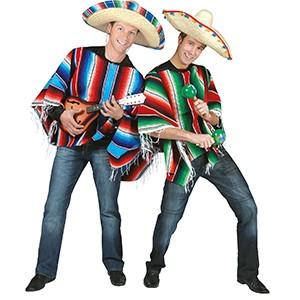 Poncho Regenboog - Verkleedkleding Zuid-Amerika - Man