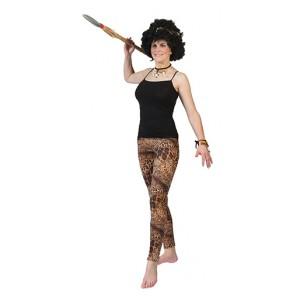 Tijgerprint Legging - Prehistorie Verkleedkleding - Vrouw