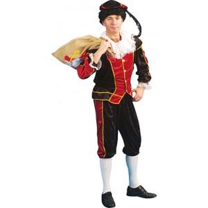 Zwarte Piet Rood - Sinterklaas Verkleedkleding - Kostuum