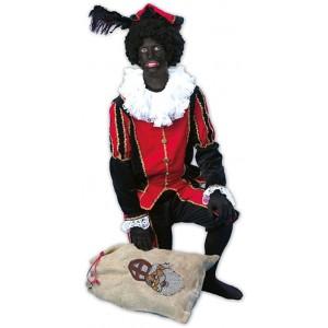 Piet Rood/Zwart - Sinterklaas Verkleedkleding Kostuum Unisex