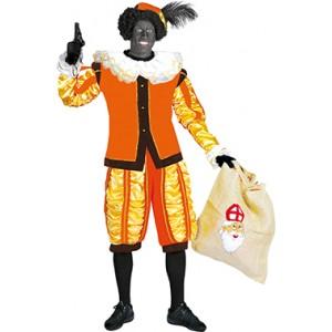 Luxe Piet Oranje - Sinterklaas Verkleedkleding - Kostuum man