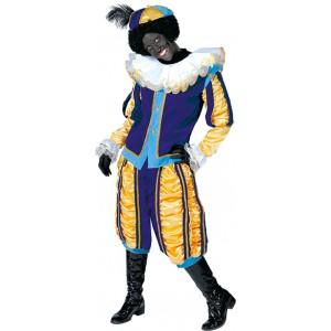 Luxe Piet Blauw - Sinterklaas Verkleedkleding - Kostuum man
