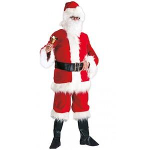 Luxe Kerstman - Kerst Verkleedkleding - Kostuum Man