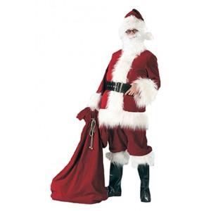 Bordeaux Luxe Kerstman - Kerst Verkleedkleding - Kostuum Man