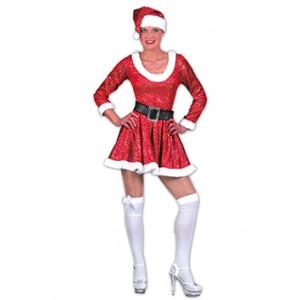 Glitter Kerstvrouw - Kerst Verkleedkleding - Kostuum Vrouw