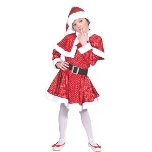 Glitter Kerstmeisje - Kerst Verkleedkleding - Kostuum Kind