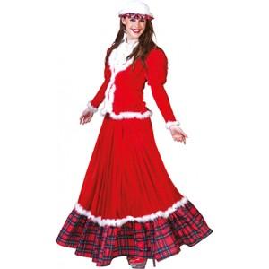 Klassieke Kerstvrouw - Kerst Verkleedkleding - kostuum Vrouw