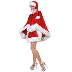 Kerstvrouw Cape - Kerst Verkleedkleding - Kostuum Vrouw