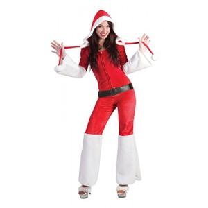 Kerstvrouw Jumpsuit - Kerst Verkleedkleding - Kostuum Vrouw