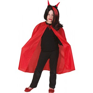 Rode Nylon Cape - Verkleedkleding Halloween - Kostuum Kind