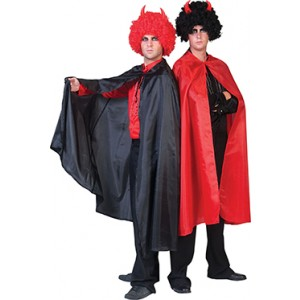 Zwarte Nylon Cape - Verkleedkleding Halloween Kostuum Unisex